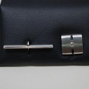 Stainless Steel & Genuine Diamond Tie Tack